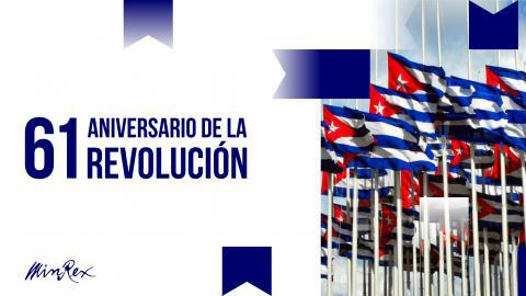 They congratulate Cuba on the anniversary of the triumph of Revolution